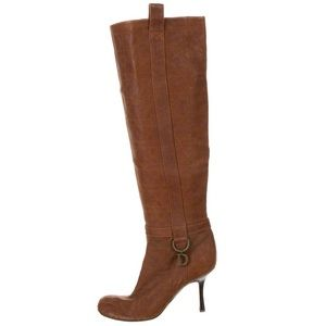 DIOR CD Cannage Distressed Over the Knee Boots